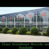 Durable Galvanized greenhouse steel Structure Venlo glass greenhouse with irrigation system