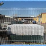 3D PVC Coated Green Security Steel Fence , 5.0mm Wire Mesh Fence Panels