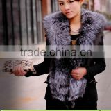 Most Popular 100% Purity Silver Fox Fur & Pigskin Vest for Women,Leather Coat without Sleeveless