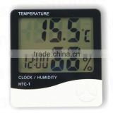 Digital LCD Thermometer Hygrometer Temp Humidity CLOCK ,temperature humidity clock, wall clock thermometer hygrometer