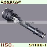 DAKSTAR New Arrival ST16B-1 XM-L U2 1150LM 18650 Side Switch Good Quality Stepless Dimming Tactical Police Flash Torch With CREE