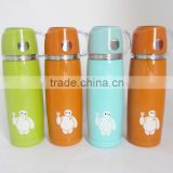 Coloful vacuum cup/ stainless steel vacuum flask/double wall stainless steel vacuum bottle