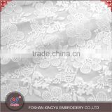 Fashion hot selling cheap 100% cotton flower embroidered tulle breathable mesh custom lace fabric