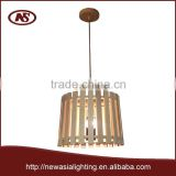 2015 new construction of nature wood FSC CERTIFICATE wood best profit benefit style indoor lighting wood pendant lamp