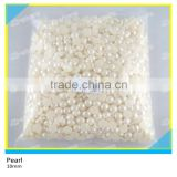 White Half Round Pearl Hotfix Plastic Material 2mm to10mm Flatback Pearl
