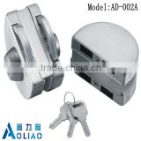 High quality tempered frameless SS or polish finish glass sliding window lock for double door in glass