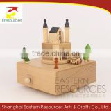 Wooden Musical Box Castle Model