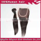 Nice looking indian remy human hair straight closure in stock in top quality with lower price