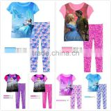 New 2015 Wholesale Children cinderella sleepwear Baby Girls Cinderella Clothing sets Kids Pajamas Set