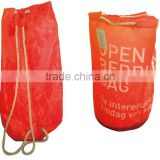 420D draw string bag, round bag, backpack