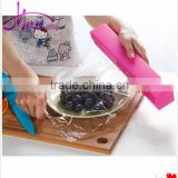 Creative 304 stainless steel blade candy color plastic cling film cutter