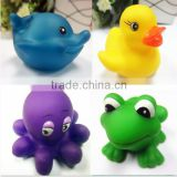 2015 High Quality passed EU certification Rubber Yellow Duck baby Bath Toy/from Everfriend