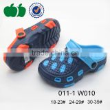 Summer new hot selling eva injection kids plastic clogs shoes