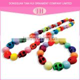 Top selling personalized resin material bead necklace designs north skull bracelet set jewelry