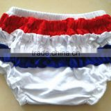 4th of July cotton baby clothes newborn ruffle diaper cover underwear wholesale for girl