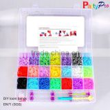 2015 Hot Sale 21 Colors 21 Compartments 4200 Loom Band Kit DIY Loom Bands Kit