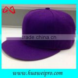 100% polyester plain blank caps hip hop fitted flat bill caps for baseball player or trucker 6-panel