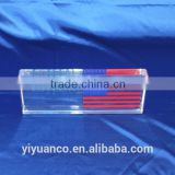 China supplier custom crystal acrylic resin paperweight, acrylic paperweight, acrylic block-0007