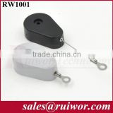 Drop-shaped Burglar-proof steel cable reel retractable box with R Ring terminal cable end
