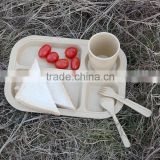 bamboo kids dinner sets can be customized