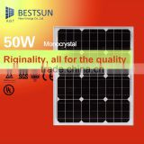 High Efficiency Back Contact Monocrystalline 50W 100W Semi Flexible Solar Panel For Portable Panel Solar Kit