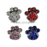 Rhinestone bling 10mm Alloy charm slide charms