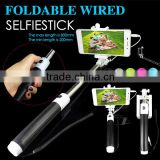 Telescopic Pole Fittings for Mobile Phone Selphie, Mini Cable Selfie Stick, Selphie Manopod