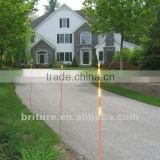 fiberglass stakes with reflective tape