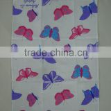 digital printed linen tea towel for home decorationl,promotion -- butterfly design
