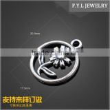 HD9229-981 hot new style of zinc alloy solar flower ring mobile phone accessories electroplating accessories