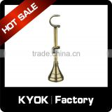 KYOK 16mm Metal Curtain Pole Adjustable Wall Brackets,Silver And Antique Brass Curtain Pole Brackets Curtains Accessories