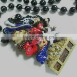 Wholesale Mardi Gras Beads Neckl Poly Medallion Beads Plastic MOT Beads