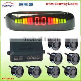 car front and rear parking blind spot assist system