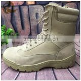 Leather khaki high quality waterproof military surplus army boots desert