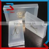 foldable clear packaging box PP plastic box with hot stamping