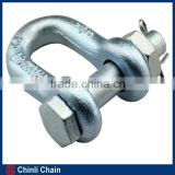Galvanized drop forged bolt type anchor shackle 2150