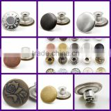 custom uniform jeans dome brass metal snap fastener