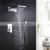 2 Way hot cold mixer home spa shower europe style rain shower mixer bathroom shower waterfall faucet for bath