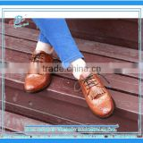 Girls genuine leather brogue boots british style customized women shoes brand new arrival