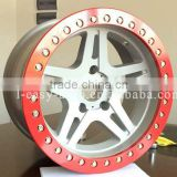 red offroad 4x4 aliminium alloy beadlock wheel