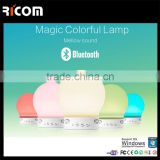Patented bluetooth speaker with Smart music lighting,bluetooth speaker lamp,lamp speaker-BSP-S11A-Ricom
