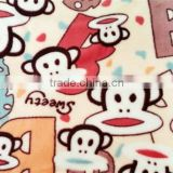 Animal Printed Flannel Fabric For Baby Wear