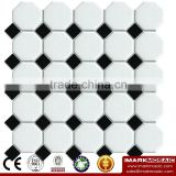 IMARK Mixed White And Black Color Octagon Mosaic Tile By Porcelain Mosaic Tile Bathroom Mosaic Tile