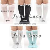 Fashion keep warm 5 colors choice winter over knee long socks for girls / party Knit Lace Boot Cuffs