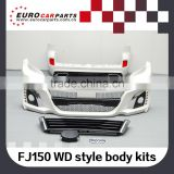 High quality 2015 PP Toyota Land Cruiser Prado FJ150 13y~ W-style front bumper body kit for 2015 Land Cruiser FJ150