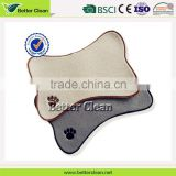 bone shape bead with dog paw pattern embroidery pet mat