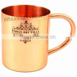 IndianArtVilla Pure Copper Plain Mug Moscow Mule Cup 350 ML - Serving Beer Wine Cocktail - Beer Bar Home Hotel Restaurant Tablew