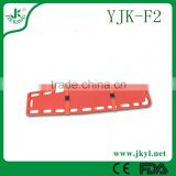 YJK-F2 High quality and ease of use ambulance emergency plastic stretcher with belt