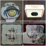 Cartoon Pattern Bamboo Cup Coaster, Table Mat, Bar Pad