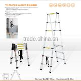 9+9 DETACHABLE COMBI TELESCOPIC LADDER(A type) (aluminium+plastic)/DOUBLE LADDER